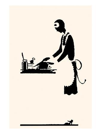Maid Prepares Recipe