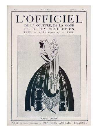 L'Officiel, February 15 1922 - Jeanne Lanvin (Illustration)