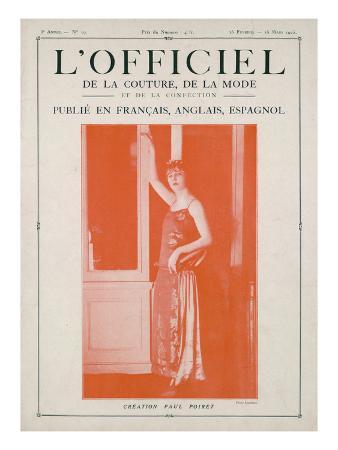 L'Officiel, February-March 1923 - Création Paul Poiret