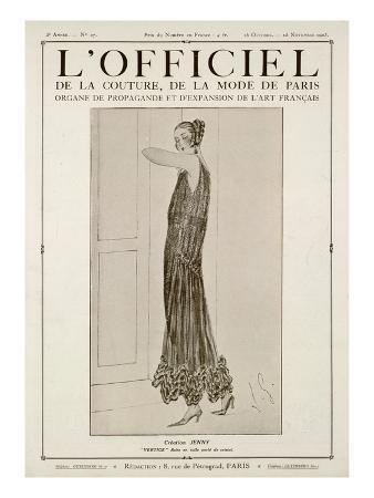 L'Officiel, October-November 1923 - Vertige Robe en Tulle Perlé de Cristal
