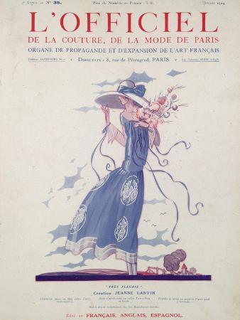 L'Officiel, July 1924 - Robe d'Après-Midi Très Fleurie