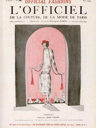 L'Officiel, August 1924 - Brumeuse