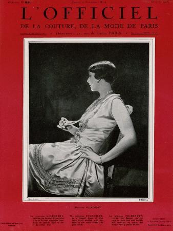 L'Officiel, September 1926 - Mlle Falconetti en Martial & Armand