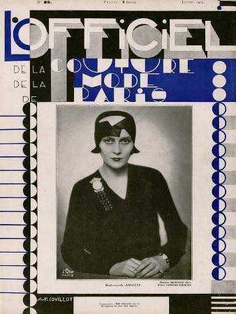 L'Officiel, January 1929 - Mlle Arletty