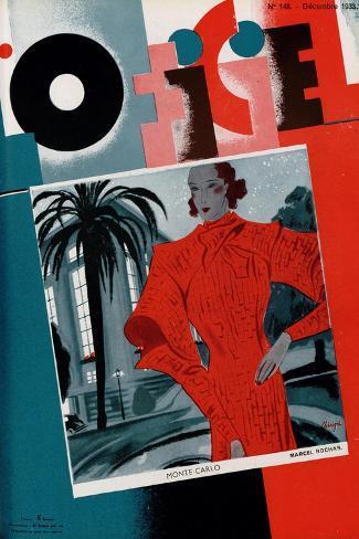 L'Officiel, June 1933 - Mle Jacqueline Shatelin