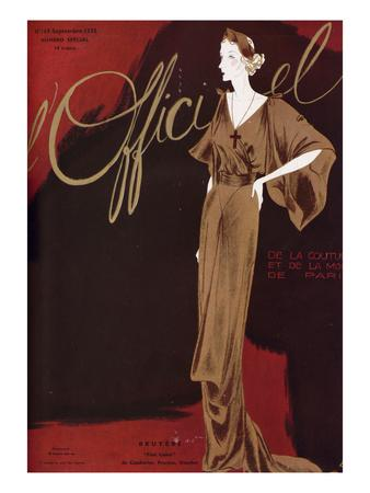 L'Officiel, September 1935 - Bruyere Fine Lame