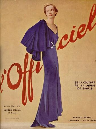 L'Officiel, January 1936 - Loretta de Marcel Rochas