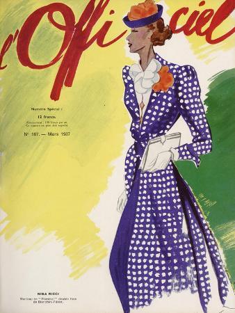 L'Officiel, March 1937 - Nina Ricci Manteau en Flamisol Double Face de Bianchini-Férier