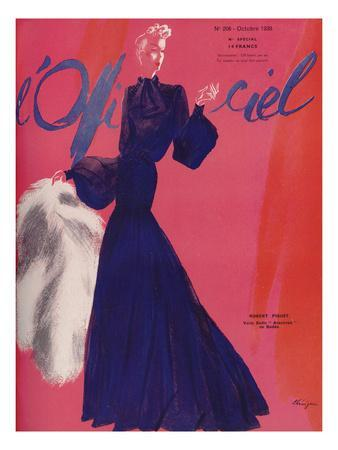 L'Officiel, October 1938 - Robert Piguet