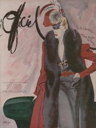 L'Officiel, November 1942 - Jean Dessèschapeau de Coralieplumes de Maurice Gaybi/Ou de Mauboussin