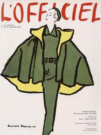 L'Officiel, Winter Special Issue - Ensemble de Robert Piguet, Tissu Lesur