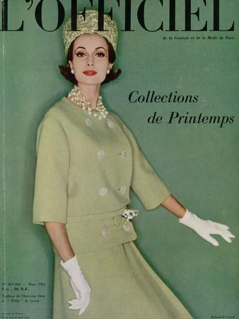 L'Officiel, March 1961 - Tailleur de Christian Dior en Tilfiz de Lesur