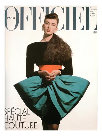 L'Officiel, September 1986 - une Robe de Pierre Cardin