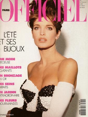 L'Officiel, June 1991 - Stéphanie Seymour, un Soutien-Gorge-Bijou Très Éton