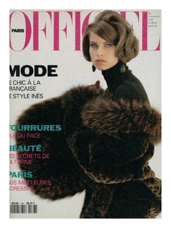 L'Officiel, October-November 1991 - Nicole Habillée Par Yves Saint Laurent Fourrures