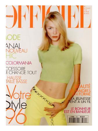 L'Officiel, February 1996 - Jodie Kidd