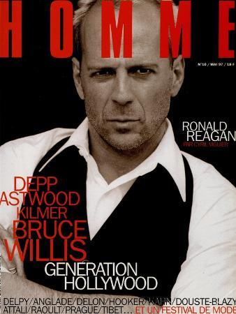 L'Optimum, May 1997 - Bruce Willis Est Habillé Par Donna Karan