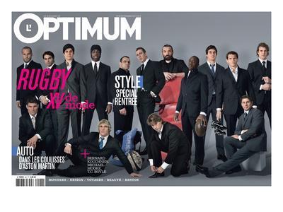 L'Optimum, September 2007 - Les Rugbymans du Xv de France Habillés Par Eden Park