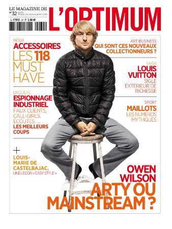 L'Optimum, April 2011 - Owen Wilson Porte une Doudoune en Nylon Moncler