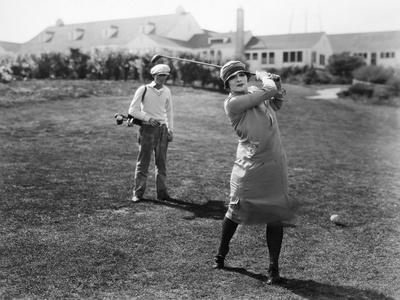 Silent Film Still: Golf