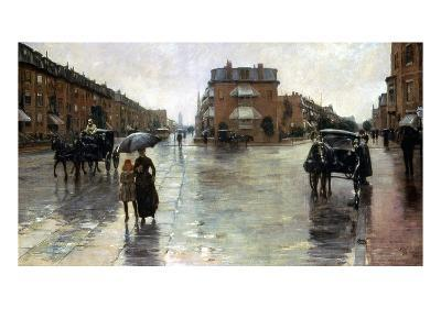 Hassam: Rainy Boston, 1885