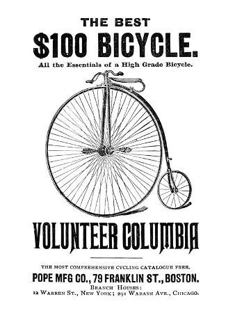 Bicycle Advertisement, 1888
