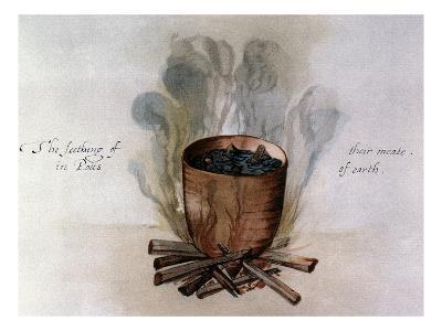 White: Native American Pot, c1585