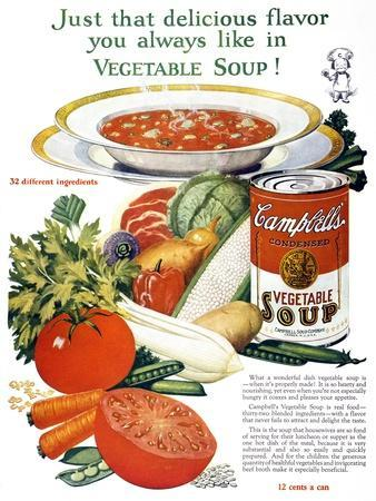 Campbell's Soup Ad, 1926