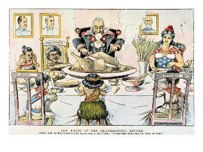 Thanksgiving Cartoon, 1898