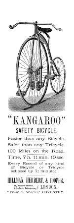 Bicycle Ad, 1885