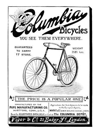Bicycle Ad, 1896