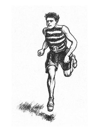 Athletics: Runner, c1900