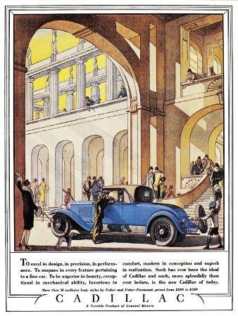 Cadillac Ad, 1927