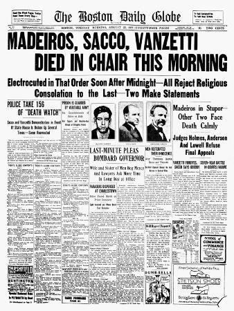 Sacco and Vanzetti, 1927
