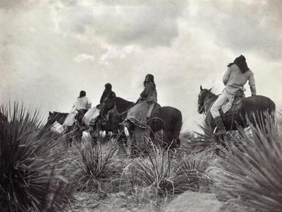 Apache on Horseback, c1906