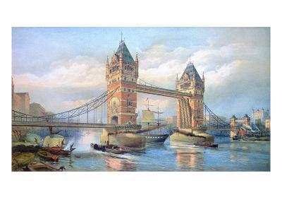 London: Tower Bridge, 1895