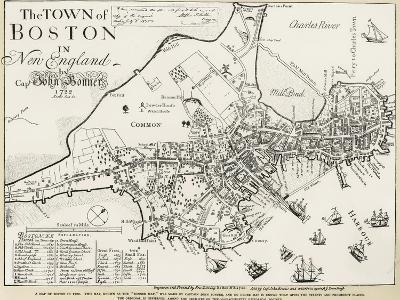 Boston Map, 1722
