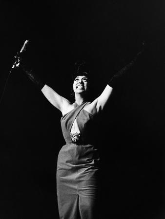 Legendary Entertainer Josephine Baker Addresses Her Adoring Fans