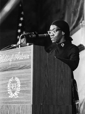 Poet Gwendolyn Brooks, Black Academy of Arts and Letters, September 1971