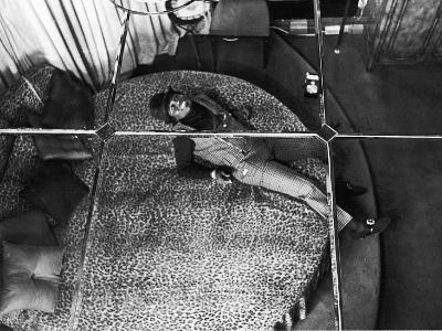 James Brown Admires the View from His Leopard Print Round Bed, October 1967