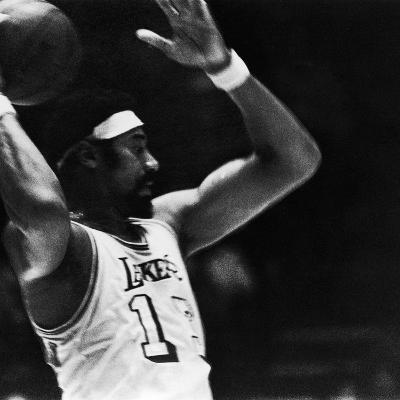 Basketball Star Wilt Chamberlain, Member of the Los Angeles Lakers, 1972