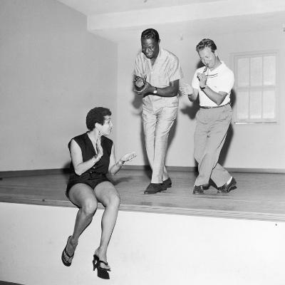 Nat King Cole Rehearses with Marie Bryant and Mel Torme, July 1959