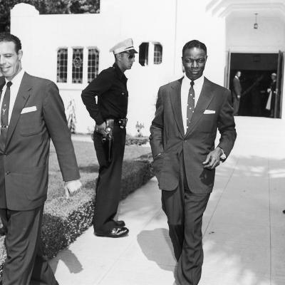 Nat King Cole Attends the Funeral of Comedian Eddie Anderson's Wife Mamie, August 1954