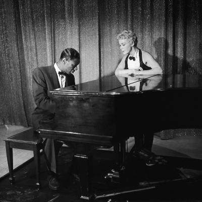 Entertainer Nat King Cole and His Guest Star Betty Hutton, the Nat King Cole Show, 1957