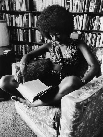 Singer Natalie Cole Relaxing with a Book, 1973