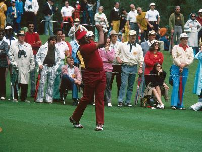 Professional Golfer Lee Elder,  Masters on April 13, 1975