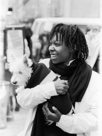 Comedian Whoopi Goldberg with Her Scottish Terrier Otis