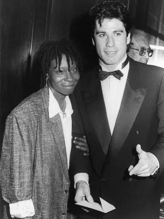 Whoopi Goldberg and Fellow Actor John Travolta, 1986