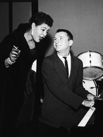 Legendary Blues Vocalist Billie Holiday, Bobby Troup, 1956