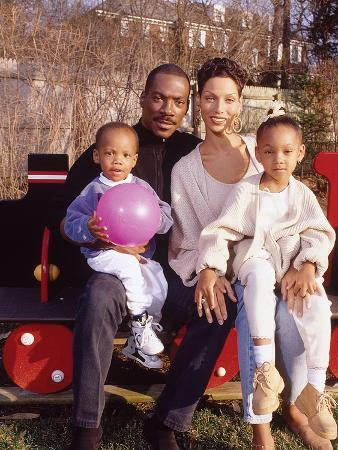 Eddie Murphy and Family,  April 1994, New Jersey Home